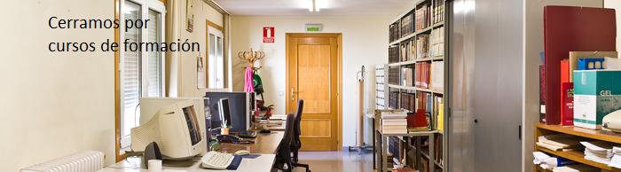 Biblioteca y Archivo cerrados por cursos de formación